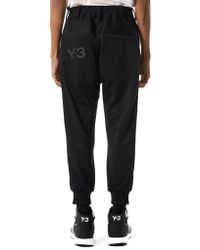 Y-3 | Black Panelled Joggers for Men | Lyst