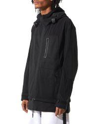 Y-3 - Black Hooded Track Jacket for Men - Lyst