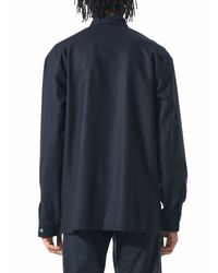 Stephan Schneider - Blue Wool Button-down Shirt for Men - Lyst