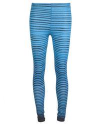 Facetasm - Blue Striped Elasticized Leggings - Lyst