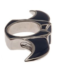 Dominic Jones - Multicolor Gold Plated Enameled Knuckle Claw Ring - Lyst