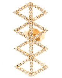 Lito | Metallic Gold Geometric Diamond Earring | Lyst