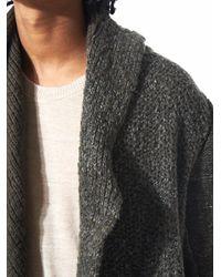 Daniel Andresen - Multicolor Asymmetric Hooded Knit Robe for Men - Lyst