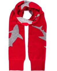 Christopher Raeburn - Red Shark Intarsia Scarf for Men - Lyst