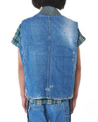 Greg Lauren - Blue Vintage Denim Flight Vest - Lyst
