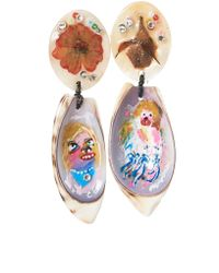 Claire Barrow | Multicolor Seashell Earrings | Lyst