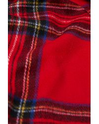 H&M - Red Woven Scarf - Lyst