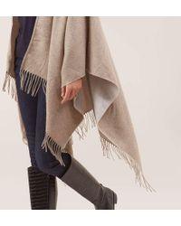 Hobbs - Natural Alison Blanket Wrap - Lyst