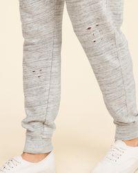 Hollister - Gray Ripped Skinny Fleece Jogger Pants - Lyst