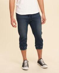 Hollister | Blue Crop Denim Jogger Pants for Men | Lyst
