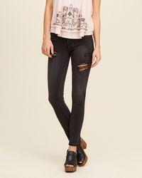 Hollister - Black Super Skinny Jeans - Lyst