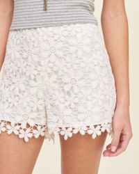 Hollister | White Lace Tap Shorts | Lyst