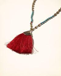 Hollister | Multicolor Golden Tassel Necklace | Lyst
