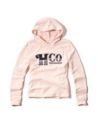 Hollister - Pink Logo Graphic Hoodie - Lyst