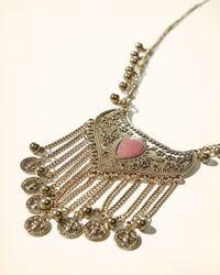 Hollister - Metallic Statement Pendant Necklace - Lyst