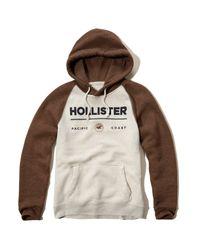 Hollister - Multicolor Colorblock Logo Graphic Hoodie for Men - Lyst