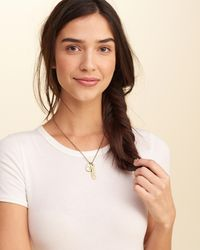 Hollister - Metallic Zodiac Charm Necklace - Lyst
