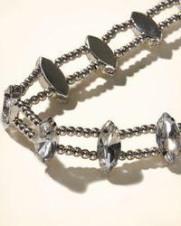 Hollister - Metallic Marquise Rhinestone Choker - Lyst