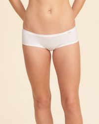 Hollister - White Graphic Cotton Short - Lyst