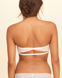 Hollister - White Open Back Lace Bandeau With Removable Pads - Lyst