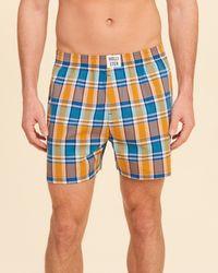 Hollister - Multicolor Plaid Woven Boxer for Men - Lyst
