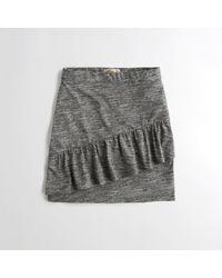 Hollister - Gray Girls Ruffle Knit Bodycon Skirt From Hollister - Lyst