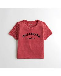 330e5821 Lyst - Hollister Girls Logo Graphic Tee From Hollister in Red