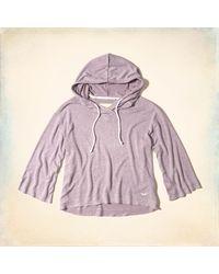 Hollister - Purple 3/4 Sleeve Hoodie - Lyst