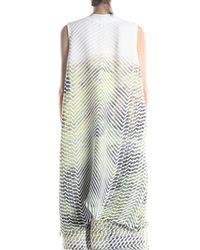 Issey Miyake - Green Fuzzy Vest Coat - Lyst