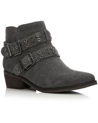 Moda In Pelle Gray Bethi Low Casual Short Boots