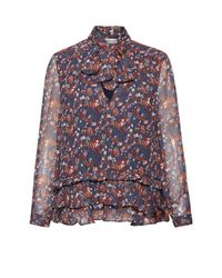 Great Plains - Red Highland Floral Frilled Blouse - Lyst