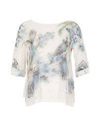 Izabel London - Multicolor Layered Feather Jumper Top - Lyst
