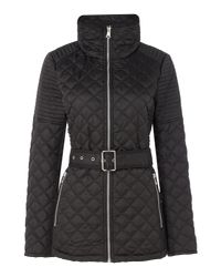 Andrew Marc | Black Quilted Jacket With Tuck Away Hood | Lyst