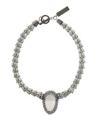 Weekend by Maxmara - Gray Laringe Statement Stone Necklace - Lyst