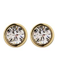 Dyrberg/Kern - Metallic Noble Gold Crystal Earrings - Lyst