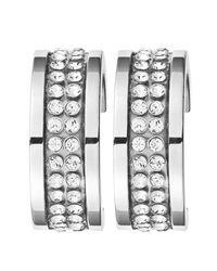 Dyrberg/Kern - Metallic Dyrberg/kern Kimmie Swarovski Crystal Hoop Earrings - Lyst