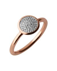 Links of London | Metallic Diamond Essentials Pave Ring - Ring Size L | Lyst
