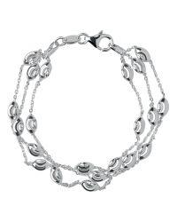 Links of London   Metallic Beaded Chain 3 Row Bracelet-l   Lyst