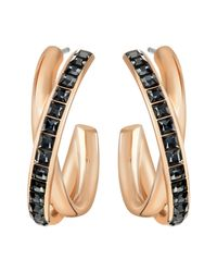 Swarovski | Pink Dynamic Hoop Pierced Earrings | Lyst