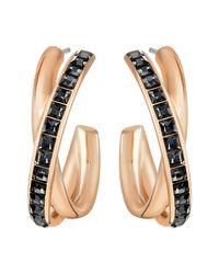 Swarovski - Pink Dynamic Hoop Pierced Earrings - Lyst