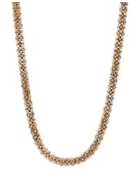 Anne Klein - Metallic Tubular Pave Collar Necklace - Lyst