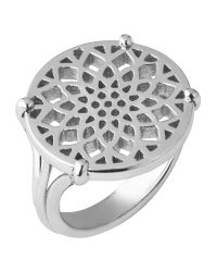 Links of London - Metallic Timeless Sterling Silver Coin Ring- Size N - Lyst