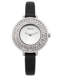 Oasis   Ladies Black Strap Watch   Lyst