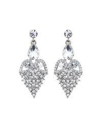 Mikey | Metallic Fruit Crystal Design Drop Earring | Lyst