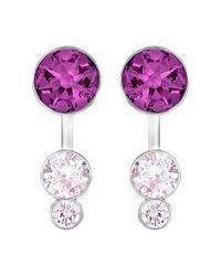 Swarovski - Purple Slake Dot Earrings - Lyst