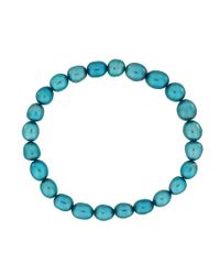 Azendi | Blue Turquoise Pearl Stretch Bracelet | Lyst