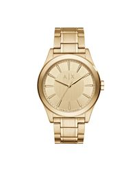 Armani Exchange - Metallic Nico Gold Watch - Lyst