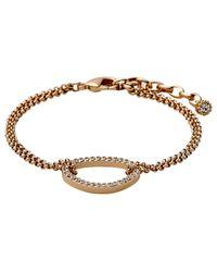 Pilgrim | Metallic Rose Gold Colour With Crystals Bracelet | Lyst