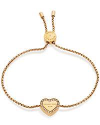 Michael Kors - Metallic Heritage Heart Slider Bracelet - Lyst