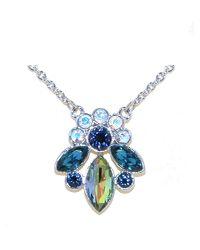 Monet - Multicolor Peacock Navette Crystal Pendant - Lyst